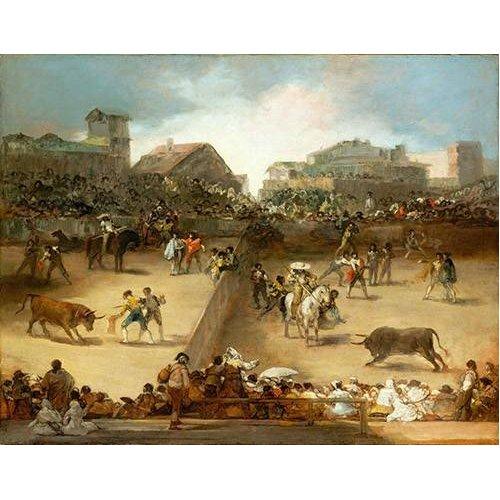 Quadro -Corrida de toros en una plaza partida-