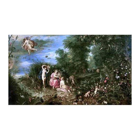 pinturas do retrato - Quadro -Los cuatro elementos-