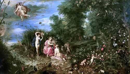 cuadros de retrato - Cuadro -Los cuatro elementos- - Bruegel