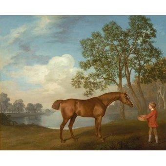 quadros de animais - Quadro -Pumpkin with a Stable-lad- (caballos) - Stubbs, George