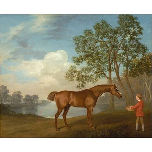 Quadro -Pumpkin with a Stable-lad- (caballos)