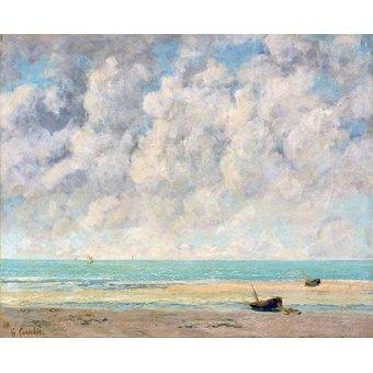 quadros de paisagens marinhas - Quadro -El mar en calma- - Courbet, Gustave