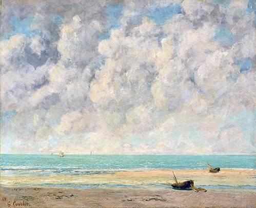 quadros-de-paisagens-marinhas - Quadro -El mar en calma- - Courbet, Gustave