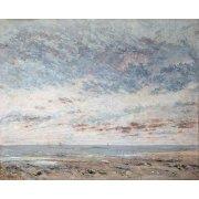 Quadro -Marea baja en Trouville, 1865-