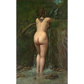 quadros nu artistico - Quadro -La Fuente- (Courbet) - Courbet, Gustave