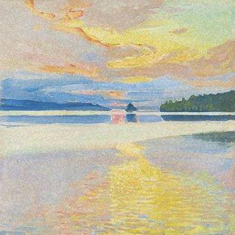 - Quadro -Paisaje Lago Norte- - Ricardo, Emilio