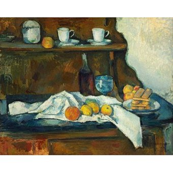 naturezas mortas - Quadro -El aparador- - Cezanne, Paul