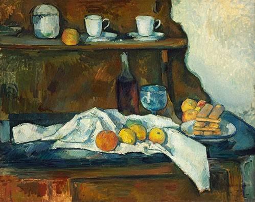 naturezas-mortas - Quadro -El aparador- - Cezanne, Paul
