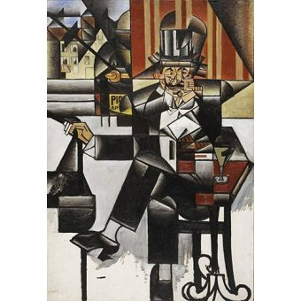 Quadros abstratos - Quadro -Man in a cafe- - Gris, Juan