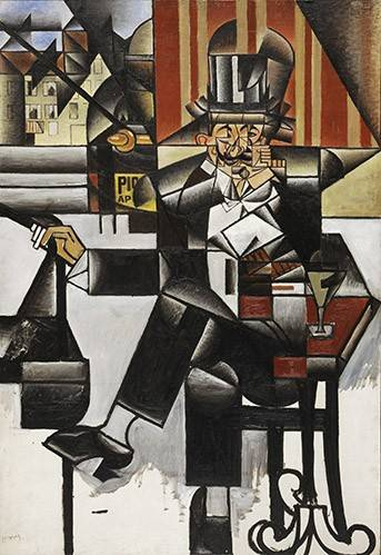 quadros-abstratos - Quadro -Man in a cafe- - Gris, Juan