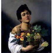 Quadro -Joven con cesto de fruta-