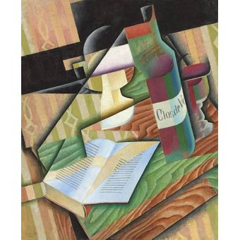 Quadros para sala de jantar - Quadro -Le livre- - Gris, Juan