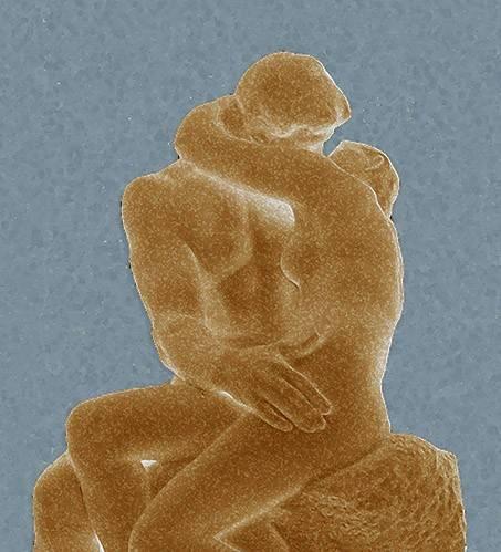 quadros-modernos - Quadro -The Kiss (El beso)- - Rodin, Auguste