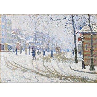 - Quadro -Snow, Boulevard de Clichy, Paris- - Signac, Paul