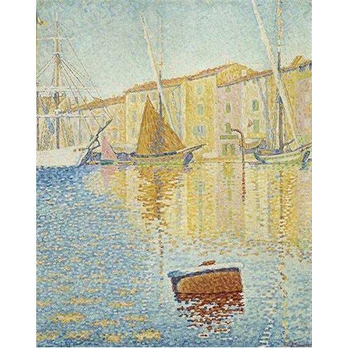 pinturas de paisagens marinhas - Quadro -La Bouée rouge, Saint-Tropez, 1895-