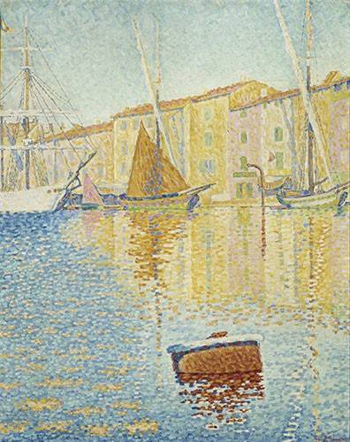 quadros-de-paisagens-marinhas - Quadro -La Bouée rouge, Saint-Tropez, 1895- - Signac, Paul