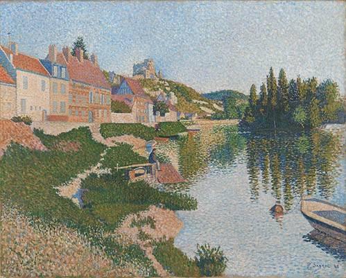 quadros-de-paisagens - Quadro -Les Andelys- - Signac, Paul