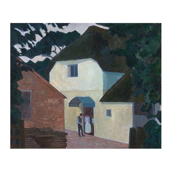 pinturas de paisagens - Quadro -The Caller at the Mill-