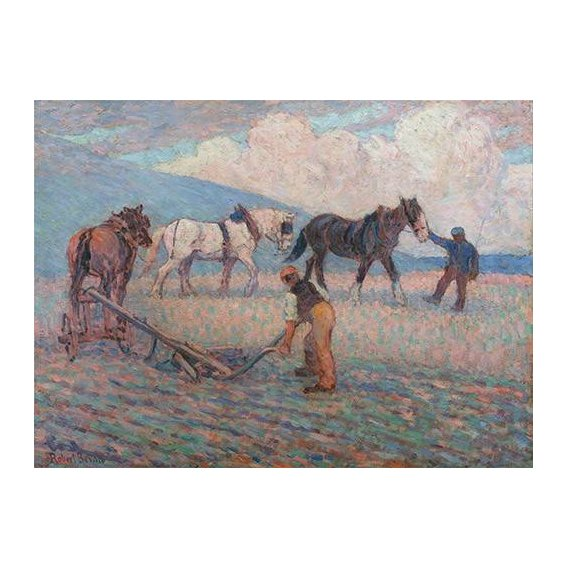 pinturas de paisagens - Quadro -The Turn Rice-Plough, Sussex-