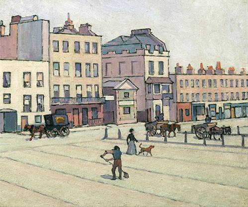 quadros-de-paisagens - Quadro -The Weigh House, Cumberland Market- - Bevan, Robert