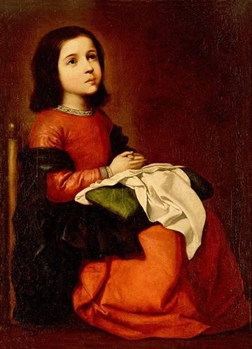 quadros-religiosos - Quadro -La Infancia De La Virgen- - Zurbaran, Francisco de