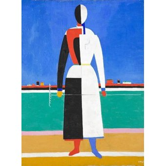 Quadros abstratos - Quadro -Woman with rake, 1930-32- - Malevich, Kazimir S.