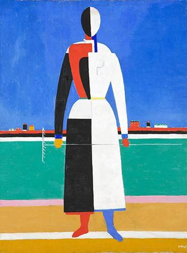quadros-abstratos - Quadro -Woman with rake, 1930-32- - Malevich, Kazimir S.