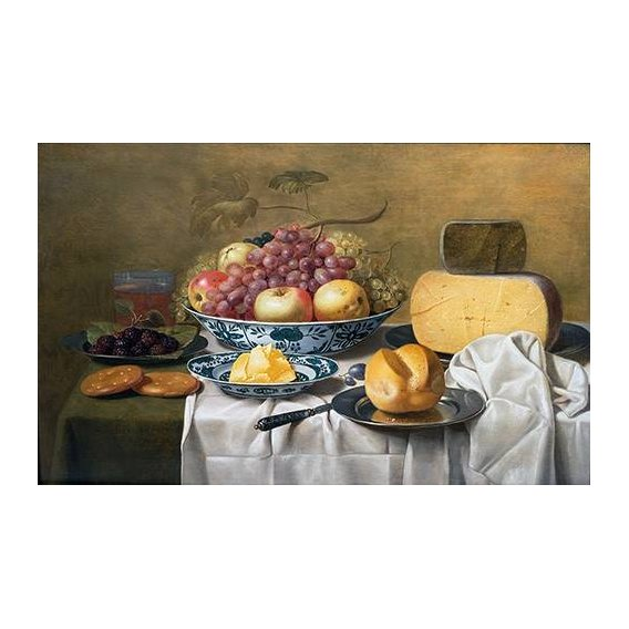 naturezas mortas - Quadro -Still Life of Fruit and Cheese-