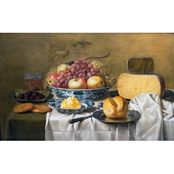 - Quadro -Still Life of Fruit and Cheese- - Schooten, Floris Gerritz Van
