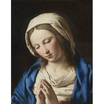 quadros religiosos - Quadro -La Virgen Rezando (II)- - Sassoferrato