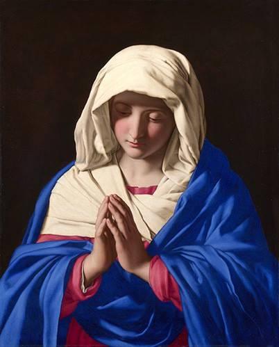 quadros-religiosos - Quadro -La Virgen rezando, 1640-50- - Sassoferrato
