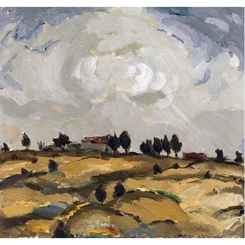 Quadro -Autumn landscape with clouds-