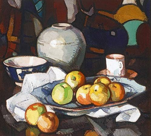naturezas-mortas - Quadro -Still life apples and jar- - Peplow, Samuel