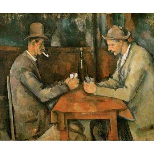 Cuadro -Los jugadores de cartas, 1890-