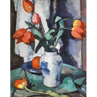 - Quadro -Orange tulips, Chinese Vase- - Peplow, Samuel