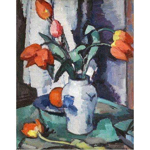 Quadro -Orange tulips, Chinese Vase-