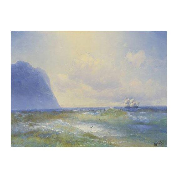 pinturas de paisagens marinhas - Quadro -Ship at sea-