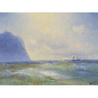 quadros de paisagens marinhas - Quadro -Ship at sea- - Aivazovsky, Ivan Konstantinovich