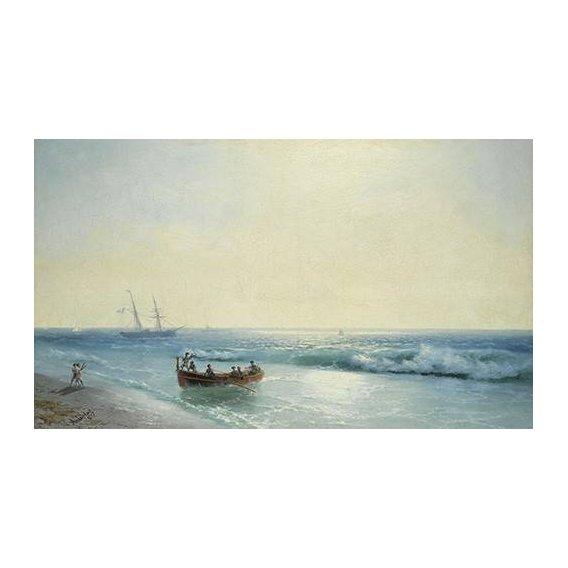pinturas de paisagens marinhas - Quadro -Sailors coming ashore-