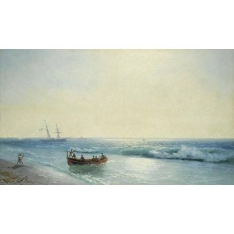 quadros de paisagens marinhas - Quadro -Sailors coming ashore- - Aivazovsky, Ivan Konstantinovich