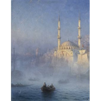 quadros de paisagens marinhas - Quadro -Constantinopla- - Aivazovsky, Ivan Konstantinovich