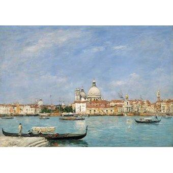 - Quadro -Venice, Santa Maria della Salute from San Giorgio- - Boudin, Eugene
