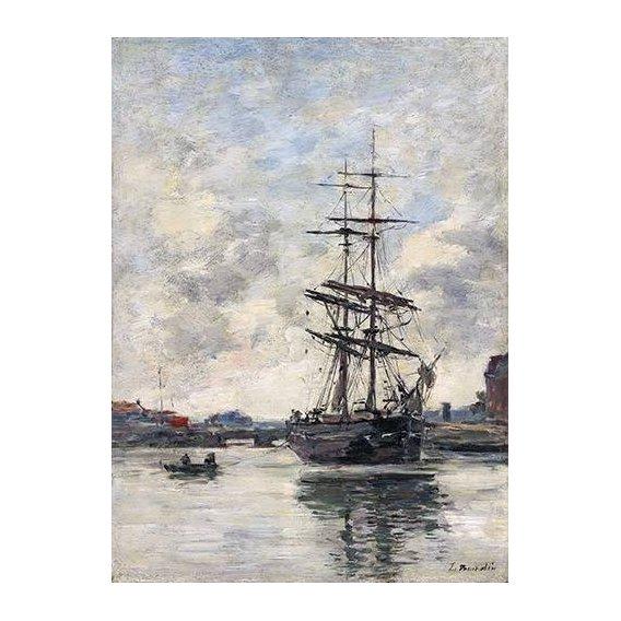 pinturas de paisagens marinhas - Quadro -Ship on the Touques, 1888-