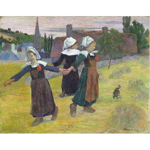 Quadro -Breton Girls Dancing, Pont-Aven-