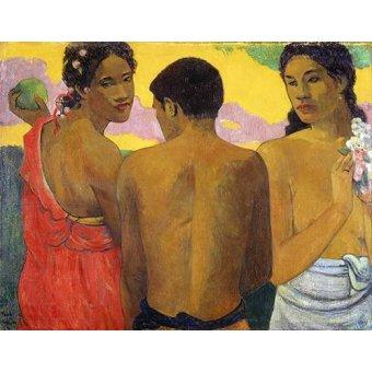 - Quadro -Tres Tahitianos- - Gauguin, Paul