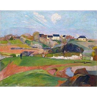 - Quadro -Paisaje en Le Pouldu, 1890- - Gauguin, Paul