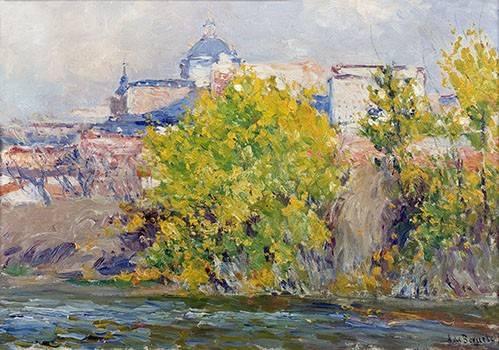quadros-de-paisagens - Quadro -Orillas del Manzanares- - Beruete, Aureliano de
