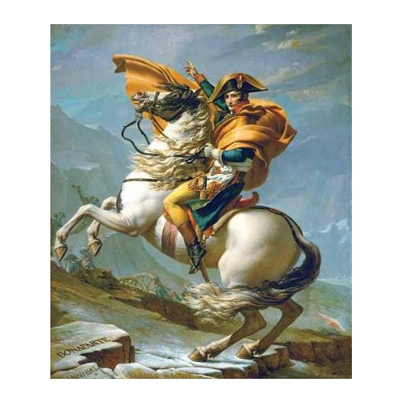 pinturas do retrato - Quadro -Bonaparte cruzando los Alpes, 1801-
