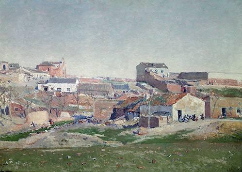 quadros-de-paisagens - Quadro -Barrio de Bellas Vistas (Afueras de Madrid)- - Beruete, Aureliano de