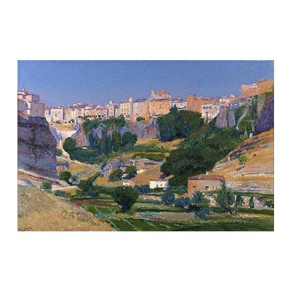pinturas de paisagens - Quadro -Las huertas (Cuenca)-